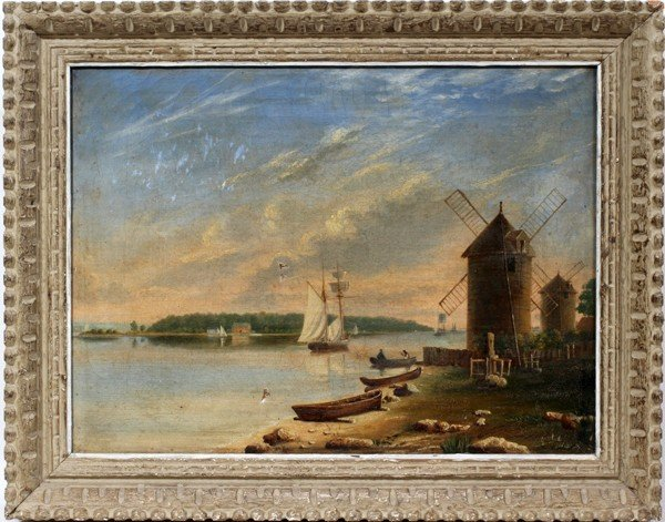 "032128: AMERICAN OIL ON CANVAS, C. 1880-1910, 12"" X 17"""