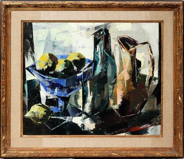 "032129: JEAN AMIOT [B 1920] OIL ON CANVAS 20"" X 24"""