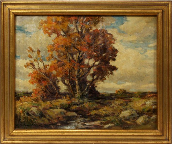 032130: ARCHIE PALMER WIGLE (1881-1969), OIL ON CANVAS,