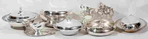032519 SILVER PLATE TABLEWARE TEN PIECES H 3  7