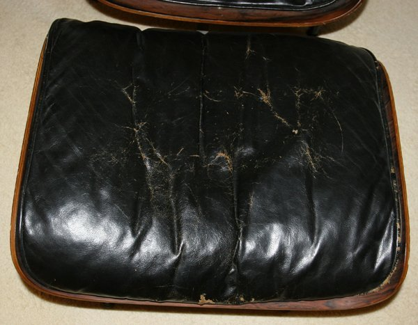 040007: EAMES LEATHER & ROSEWOOD LOUNGE CHAIR & OTTOMAN - 2