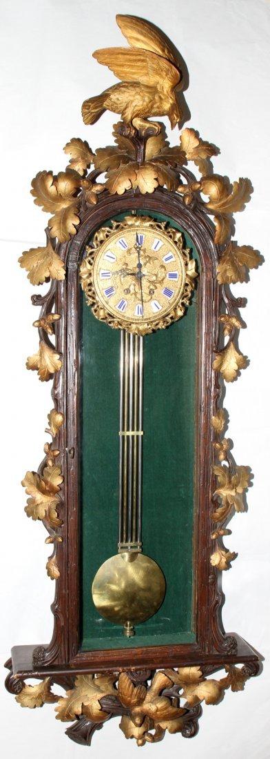 040013:LEUENBERGER, INTERLAKEN, SWISS HANGING CLOCK,