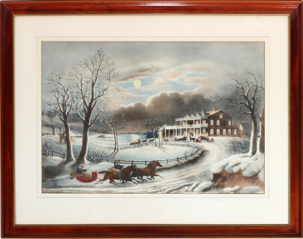 040017: CURRIER N. COLOR LITHO, C1854, AMERICAN WINTER