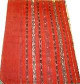 040460: TURKMAN SOUMAC, HAND WOVEN WOOL SADDLE BAG