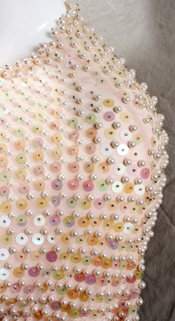 040493: HE-RO INDUSTRIES INC. BEADED COCKTAIL DRESS - 2