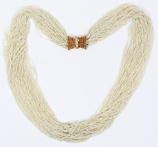 041052: KESHI PEARL NECKLACE WITH 18KT GOLD & LASP
