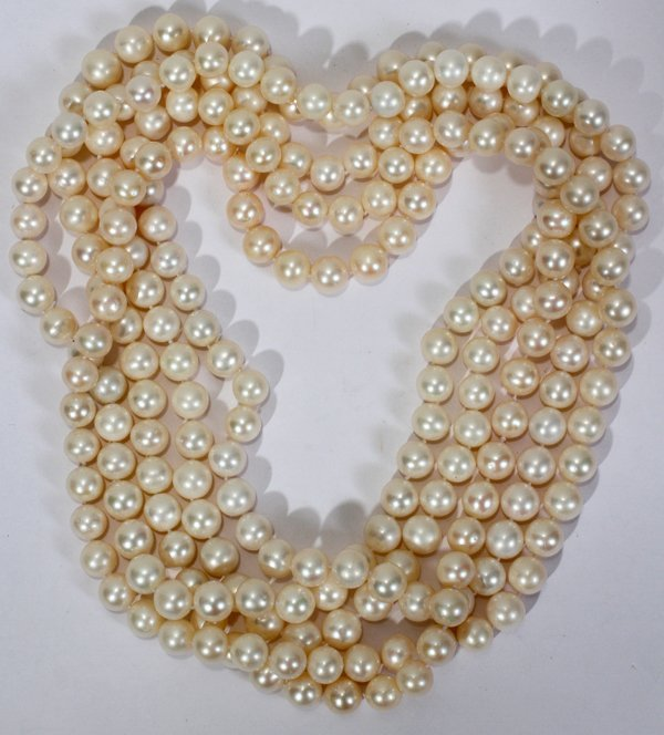 """041053: 10.0MM PEARL OPERA LENGTH NECKLACE 45"""""""