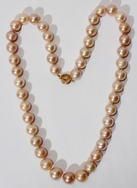 12.0-14.5MM PEARL NECKLACE 24""