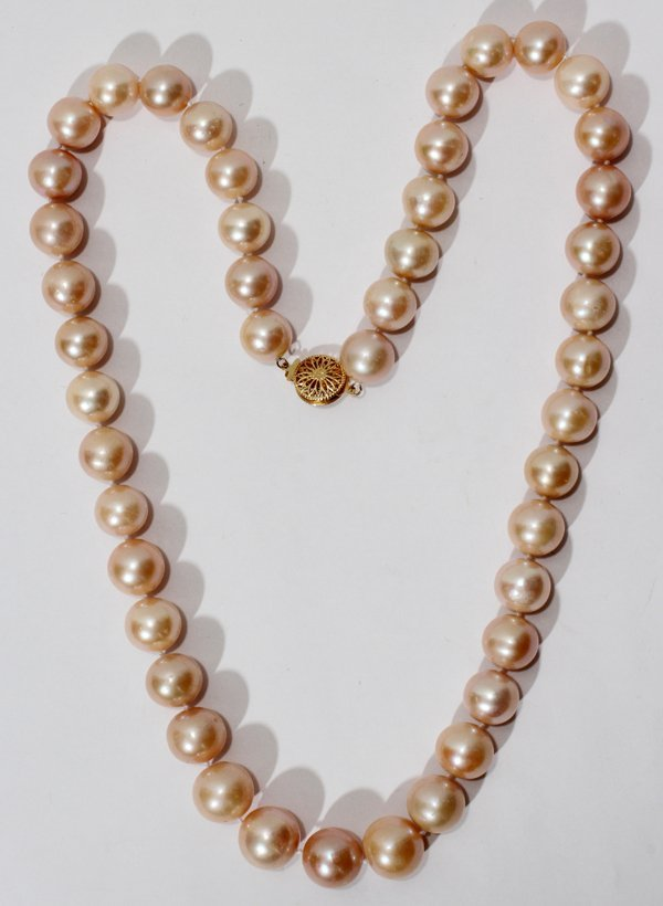 """041055: 12.0-14.5MM PEARL NECKLACE 24"""""""