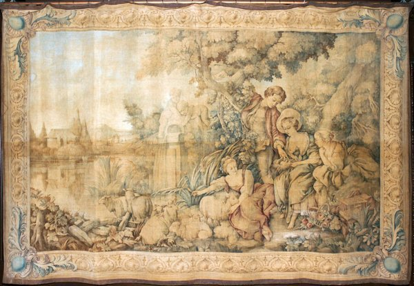 """041060: CONTINENTAL MACHINE-WOVEN TAPESTRY, 75"""" X 110"""""""