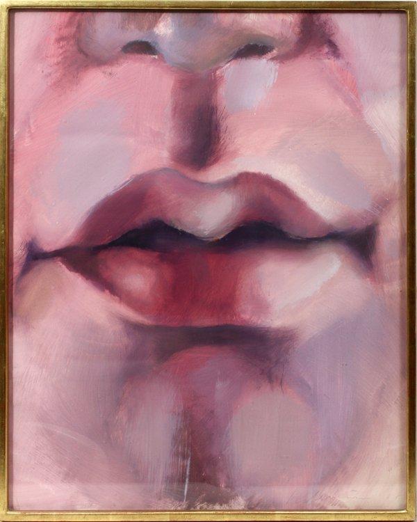042006: STEVENSON, HAROLD  GOUACHE, LIPS OF A MAN