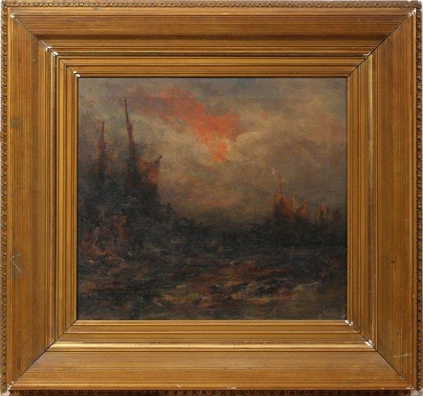 042008: HOPKIN ROBERT OIL ON CANVAS, SAILING VESSELS