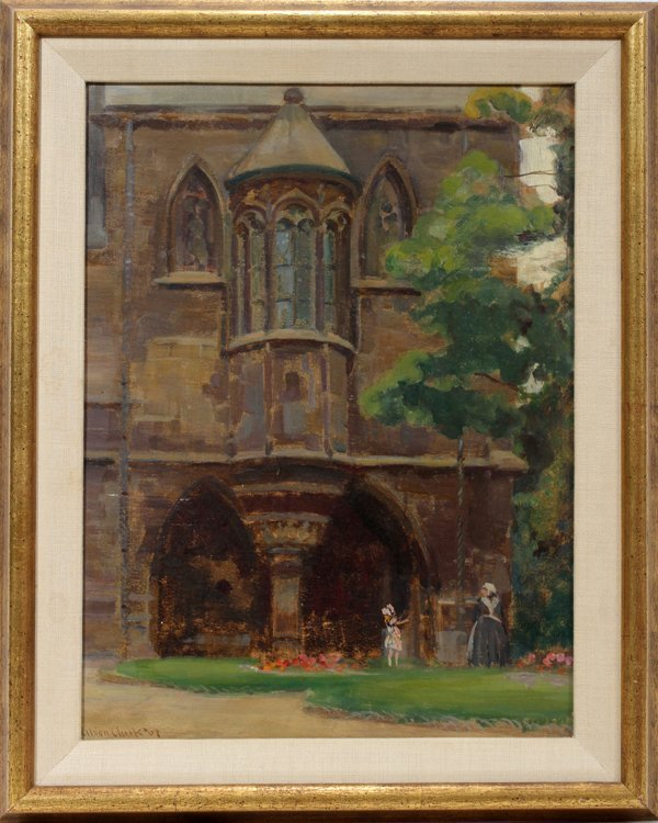 042009: ALSON SKINNER CLARK OIL ON BOARD 1907 CATHEDRAL