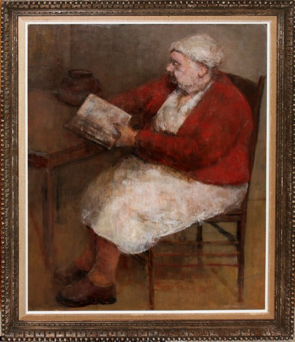 042010: CHERNEY MARVIN OIL/CANVAS, 1957, WOMAN READING