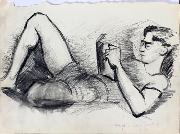 042015: HUGHIE LEE-SMITH PENCIL DRAWING, 1931, MALE