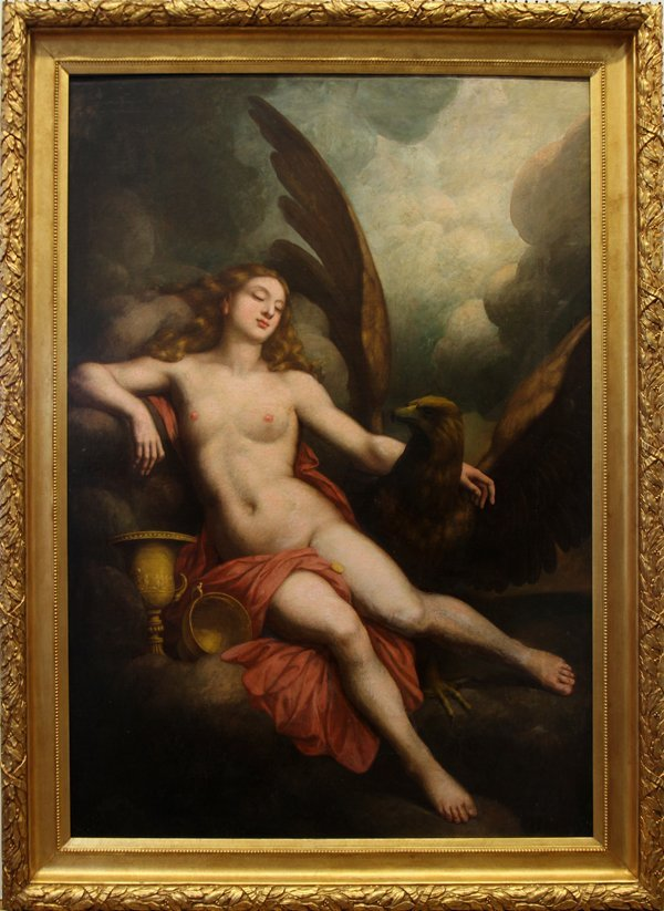 042020: OLD MASTER OIL/CANVAS 18TH C, 'HEBE AND JUPITER
