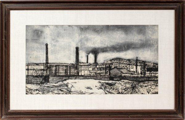 042023: VESPIGNANI  RENZO INK DRAWING, C. 1950'S,