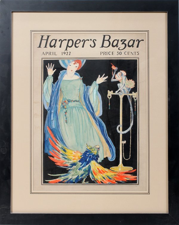 042028: HARPER'S BAZAR, APRIL 1922  COVER ILLUSTRATION,