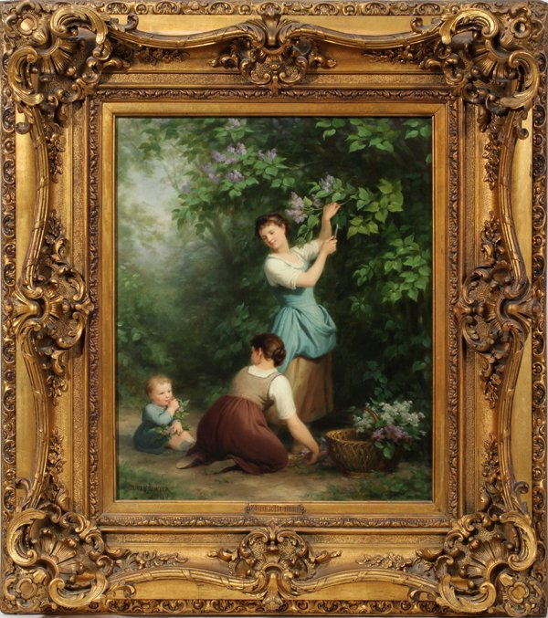 042034: ZUBER-BUHLER FRITZ OIL ON CANVAS, MOTHER AND