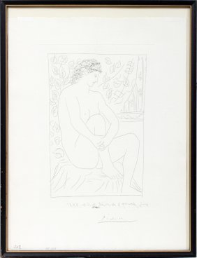 """PABLO PICASSO  ETCHING, 12 1/4"""" X 8 3/4"""","""