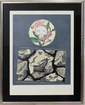 """ERNST MAX COLOR LITHO 1968, """"DECHETS D'ATELIER"""""""