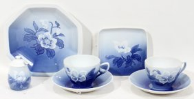 BING AND GRONDAHL PORCELAIN CHINA SET  7 PCS
