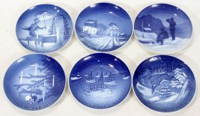 BING AND GRONDAHL PORCELAIN CHRISTMAS PLATES,