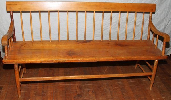 "042173: PINEAMERICAN ANTIQUE  BENCH   31"" 60"""