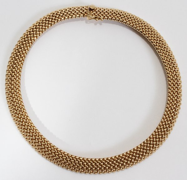 042181: 14 KT YELLOW GOLD NECKLACE    13""