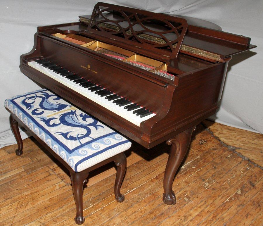 050011: STEINWAY & SONS MAHOGANY GRAND PIANO, MODEL 'M'