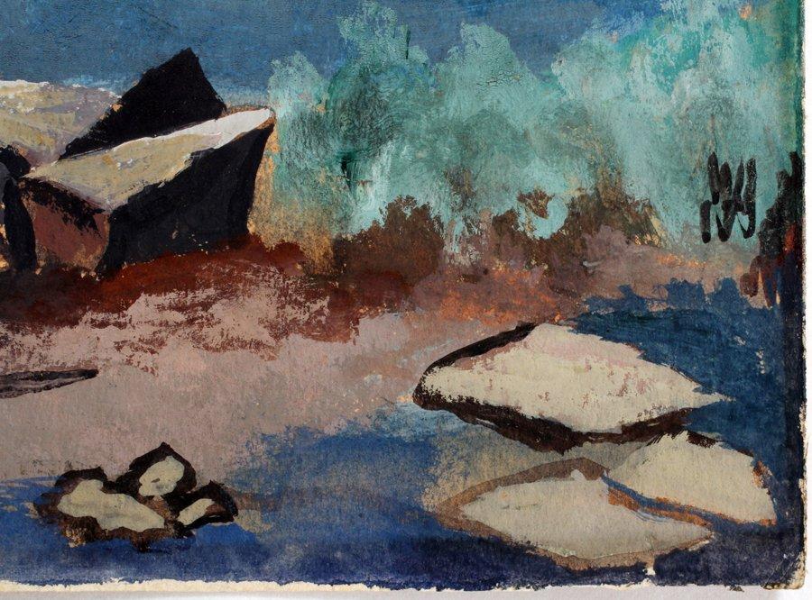 050018: STYLE OF MARSDEN HARTLEY GOUACHE ON PAPER - 3