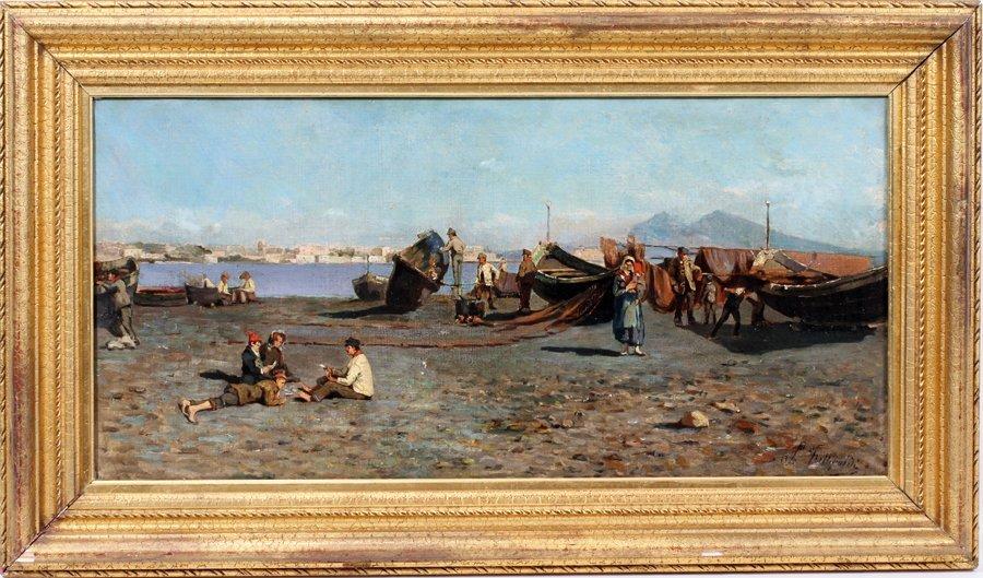 050019: LOUIS FITTIPALDI, OIL/CANVAS, FISHERMAN