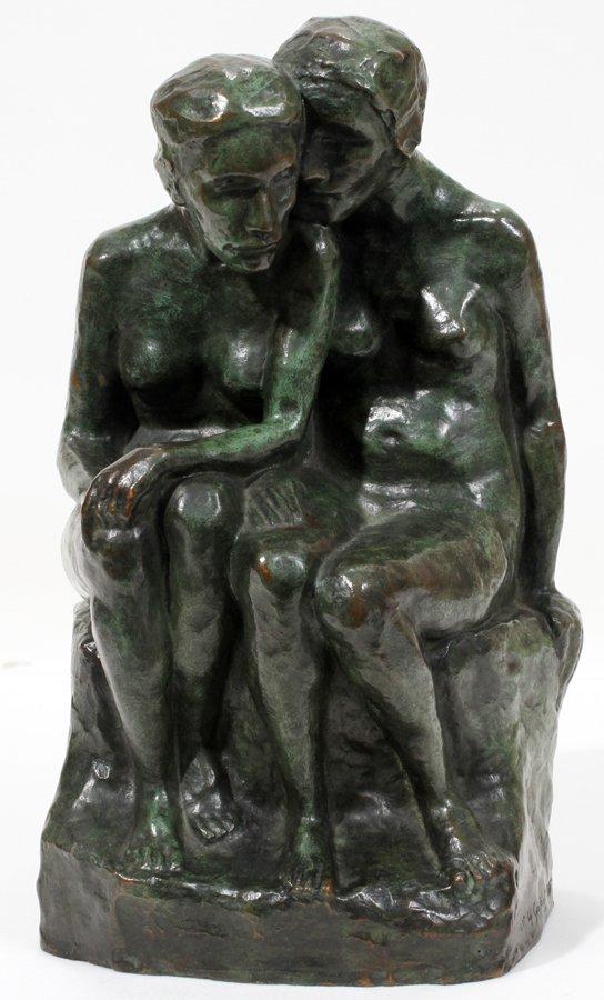 050020: ESTELLE RUMBOLD-KOHN BRONZE, TWO SEATED WOMEN