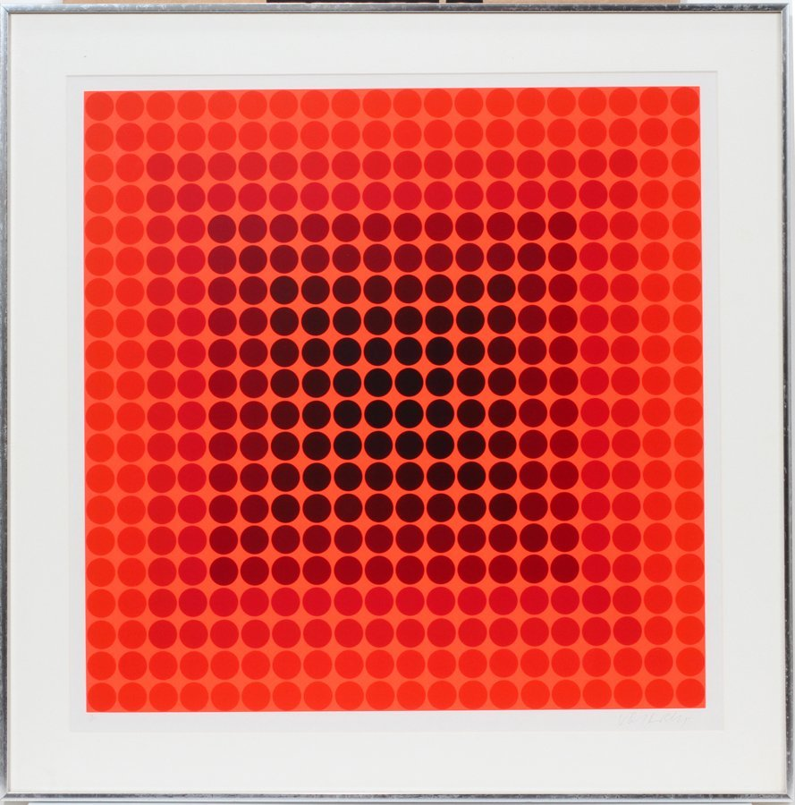 "050088: VICTOR VASARELY SERIGRAPH, #13/250, 24"" X 24"","