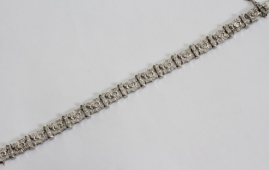 050151: 14KT GOLD & 1.65 CT DIAMOND BRACELET, L 7""