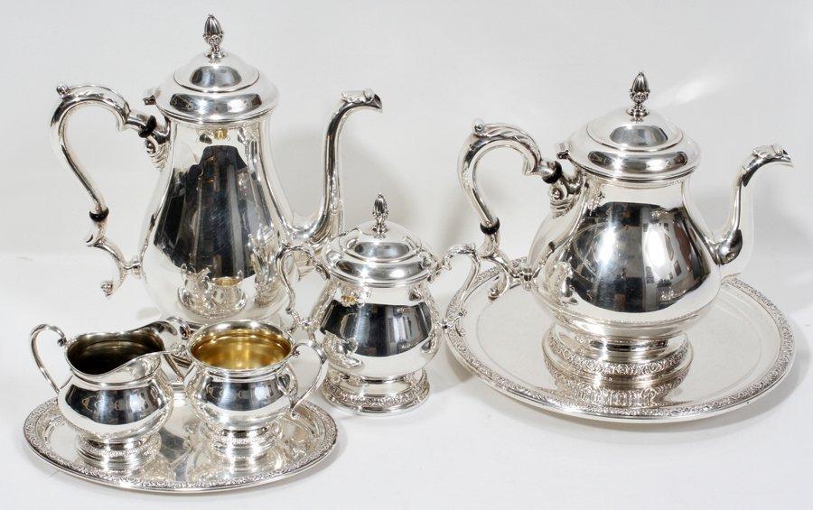 051002: INTERN. SILVER CO. 'PRELUDE' STERLING TEA &
