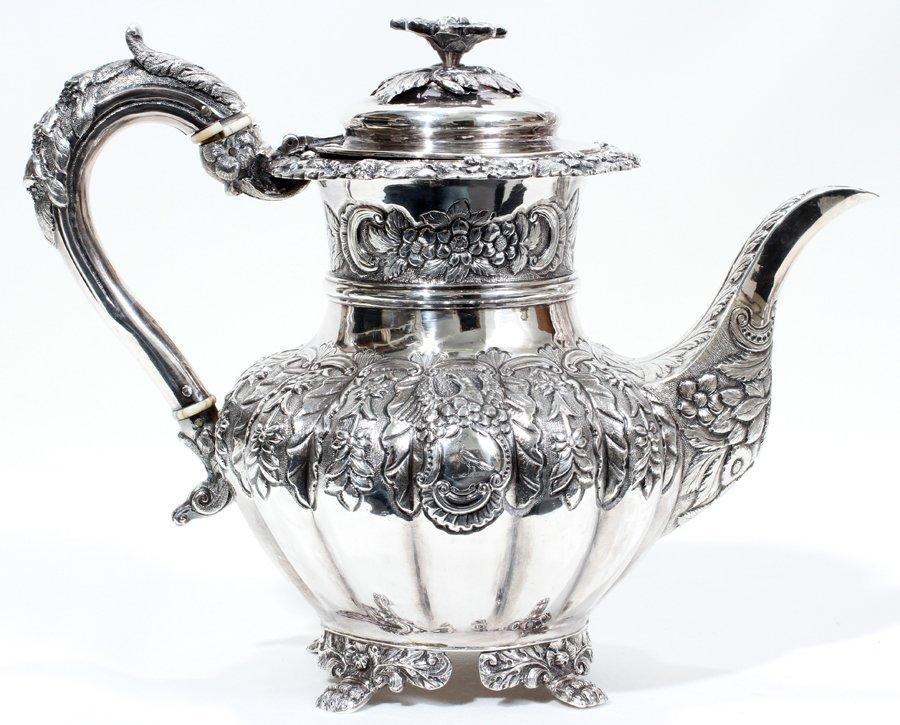 051004: IRISH GEORGE IV STERLING COFFEE POT, DUBLIN