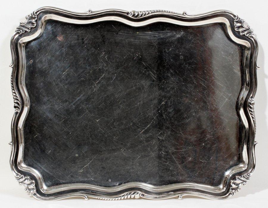 051008: DUTCH .833 SILVER TEA TRAY, 1933