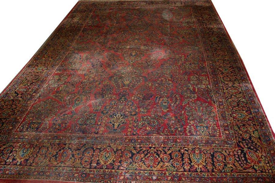 """051053: SAROUK PERSIAN CARPET, ANTIQUE, 17' 0"""" X 11' 7"""""""