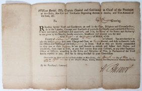 WILLIAM BURNET (1688-1728) SIGNED DOCUMENT