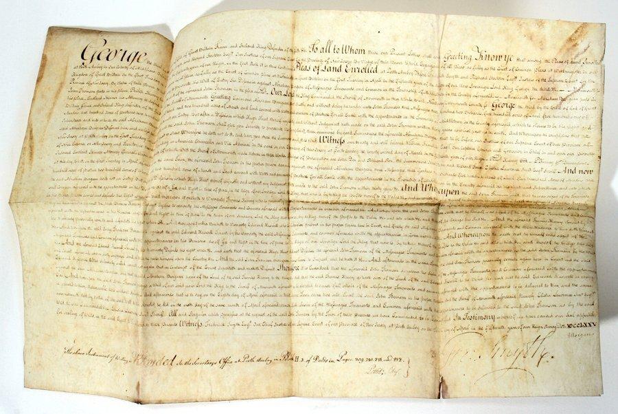 051061: FREDERICK SMYTH (1732-1815) SIGNED DOCUMENT