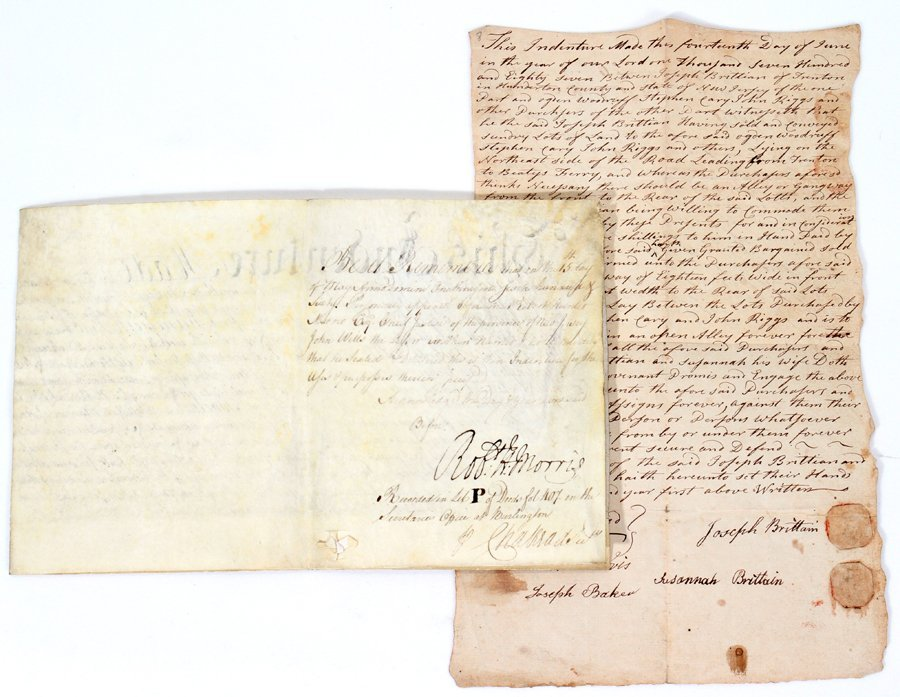 051065: COLONIAL NEW JERSEY AUTOGRAPH SIGNED DOCUMENTS