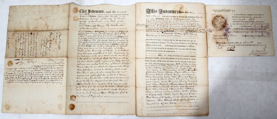 051070: NEW JERSEY LAND DOCUMENTS (3), EARLY 19TH C.