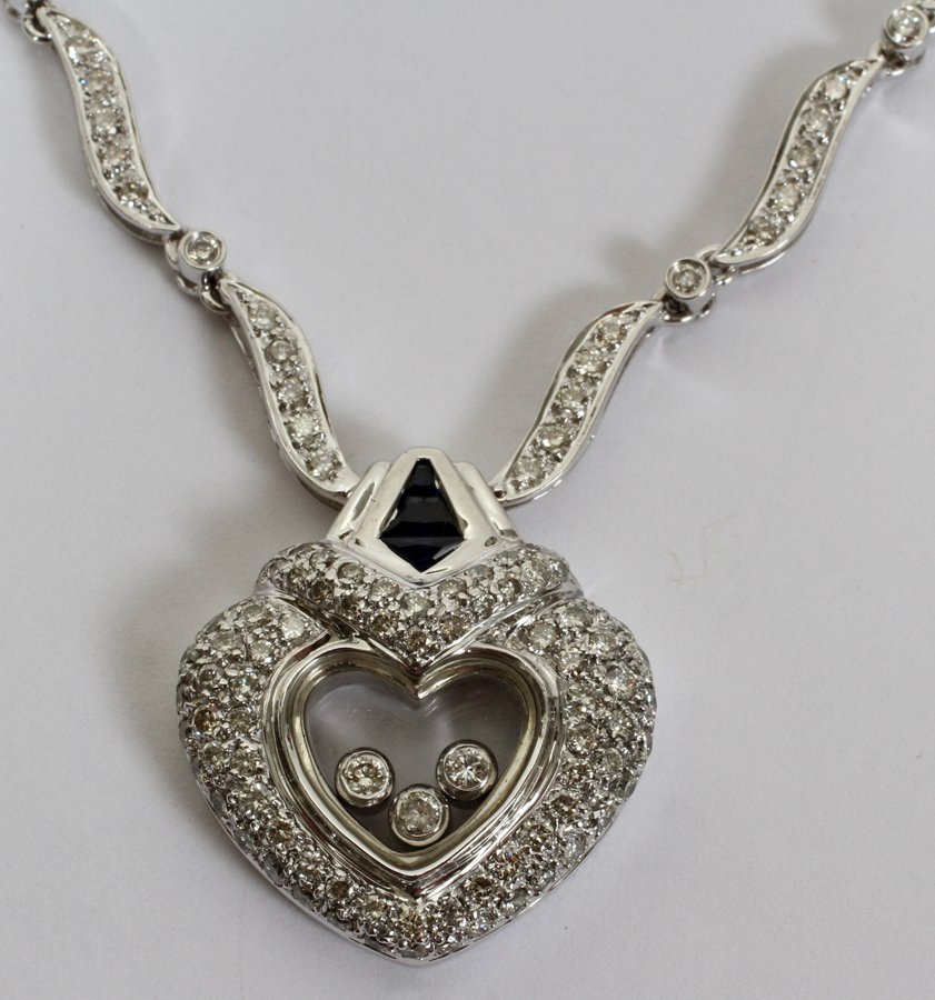 051155: 14KT GOLD & 2.50CT DIAMOND HEART NECKLACE - 2