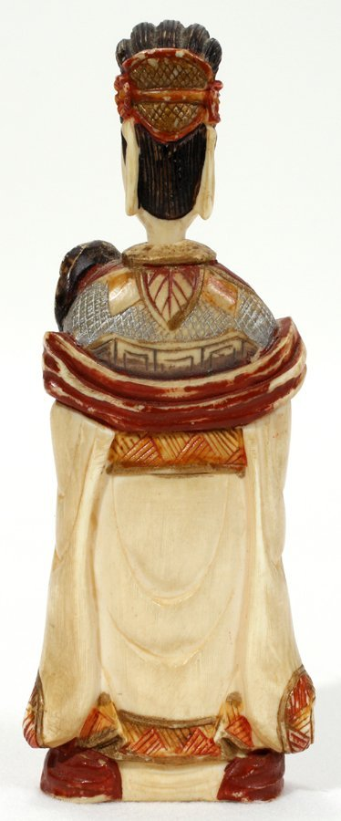 051232: CHINESE IVORY & POLYCHROME SNUFF BOTTLE - 2