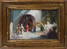 052016: DOUGLAS ARTHUR TEED OIL ON CANVAS BOARD, 1926,