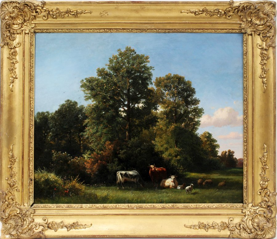 "052023: DUTCH SCHOOL, OIL ON CANVAS, 19TH C., 16"" X 24"""