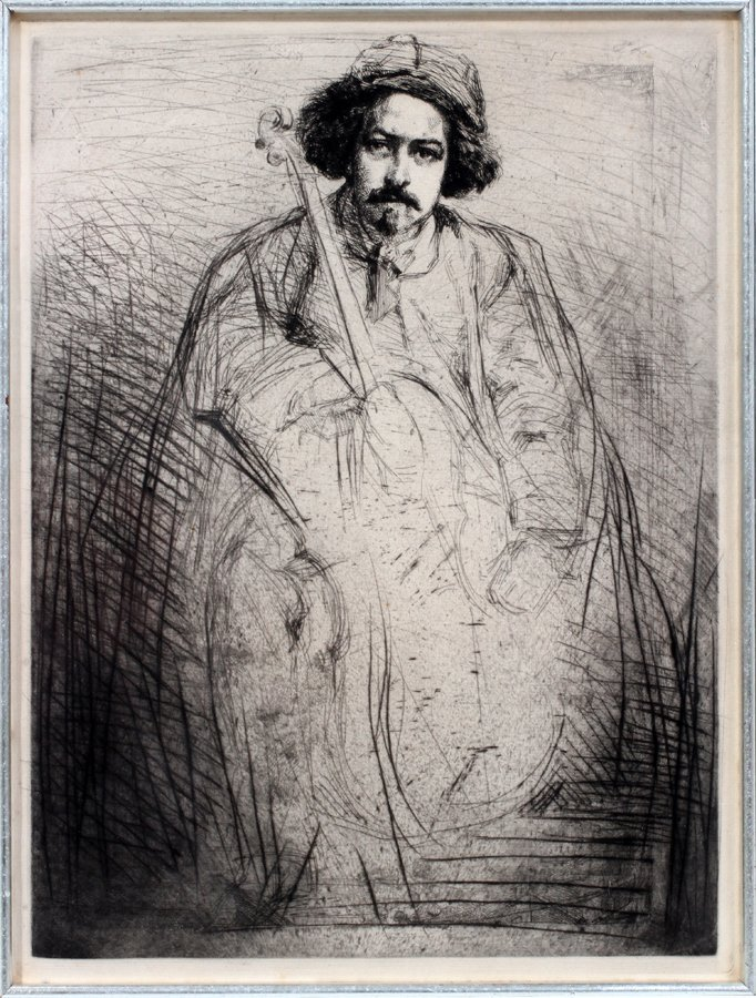 052042: JAMES ABBOT MCNEIL WHISTLER ETCHING & DRYPOINT, - 2