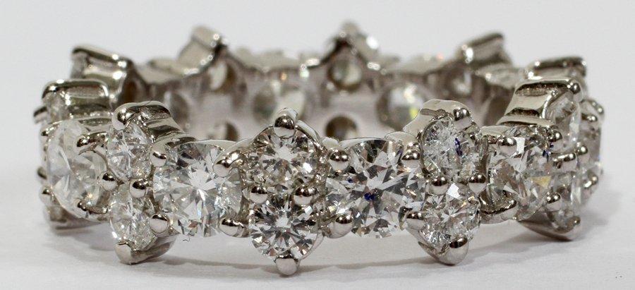 "052227: 3.00CT ROUND DIAMOND ETERNITY RING, SIZE 7 1/2"""
