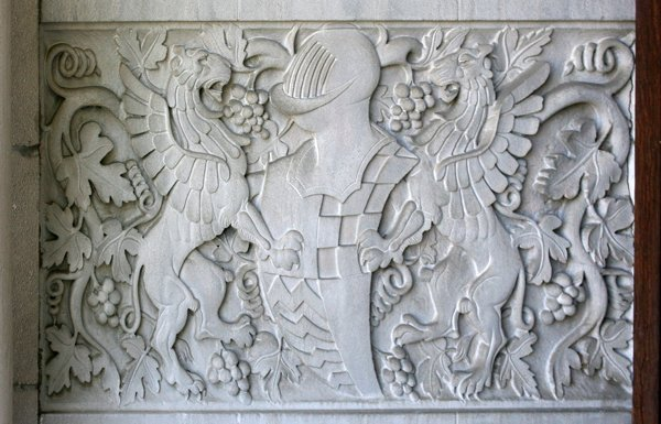 060008: CARVED GRIFFIN, ARMOR, GRAPE AND LEAF PANELS - 2